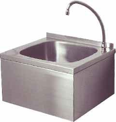 Handwasbak met kniebediening